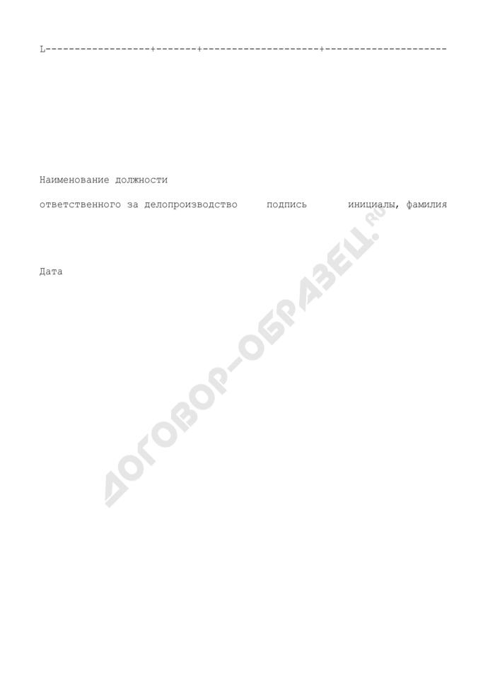 Форма итоговой записи к номенклатуре дел структурного подразделения (типовая форма; не засчитывается в общее количество; не оплачивается) (приложение к инструкции по делопроизводству). Страница 2