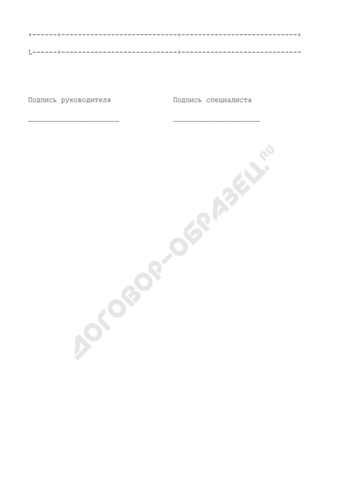 Форма квалификационной карточки специалиста независимого органа по аттестации персонала. Страница 3