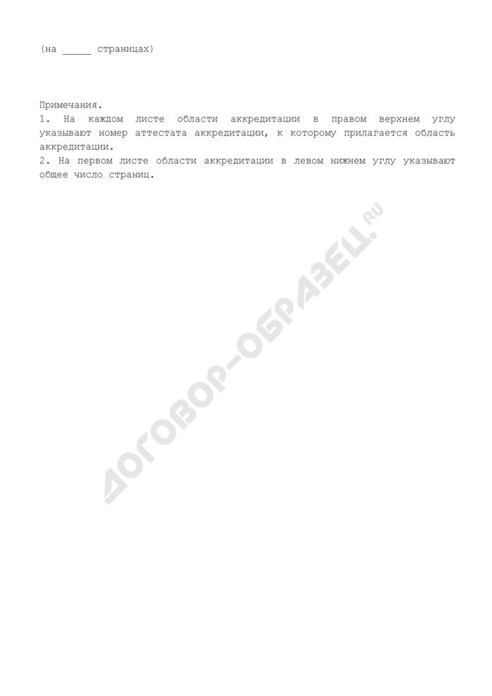 Форма приложения к аттестату аккредитации испытательной лаборатории пищевых продуктов и продовольственного сырья (рекомендуемая). Страница 3