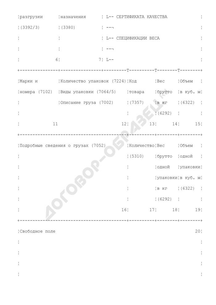Формуляр-образец для товаросопроводительных документов. Страница 2
