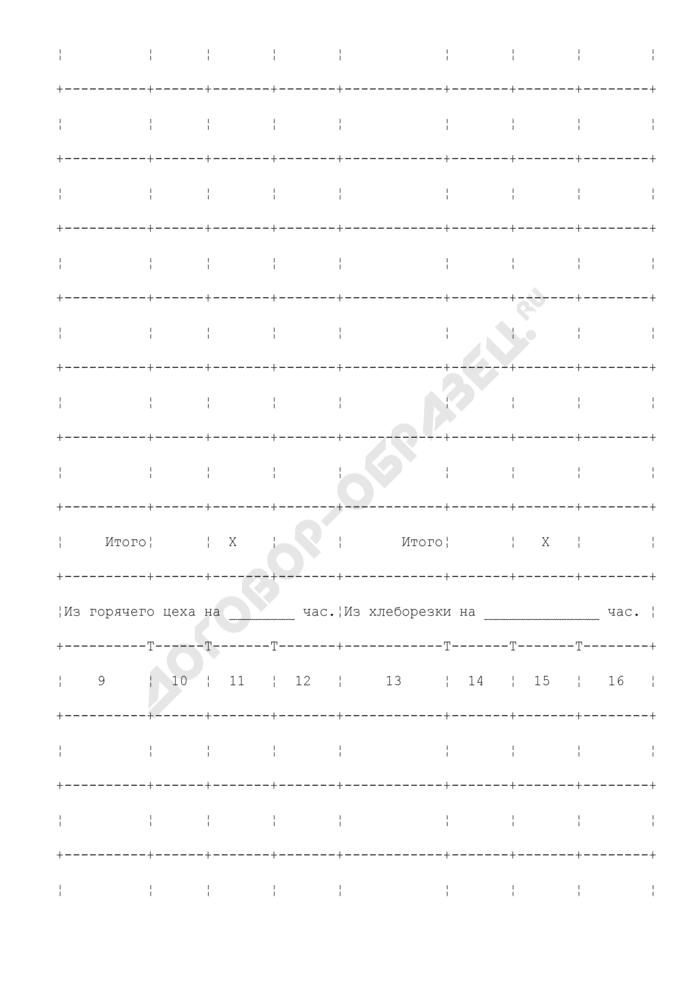 Заказ-счет (документация по учету операций в общественном питании). Унифицированная форма N ОП-20. Страница 3