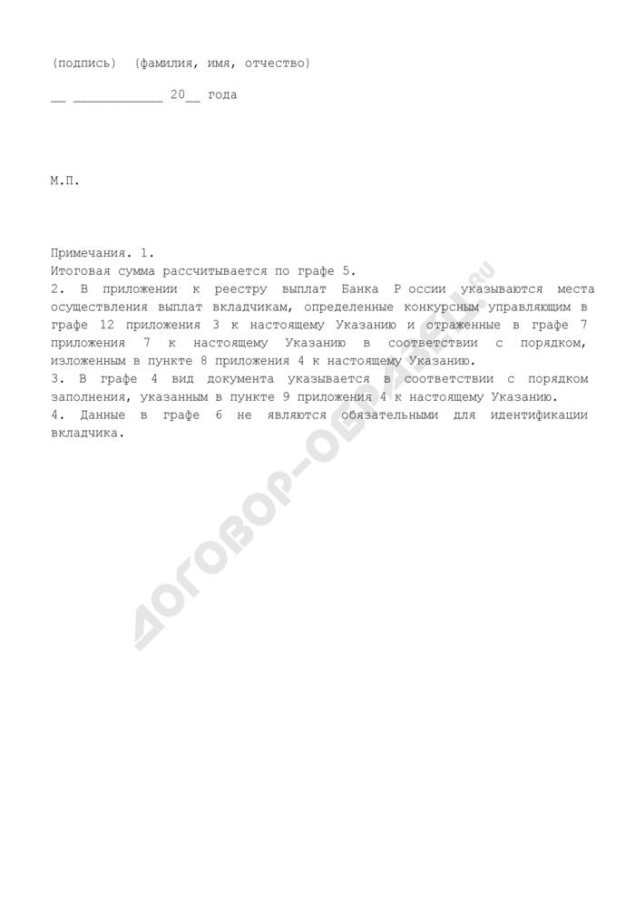 Реестр выплат Банка России. Страница 3