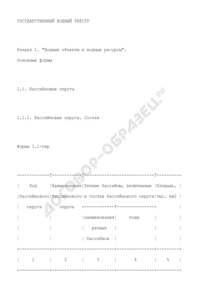 Государственный водный реестр. Страница 1