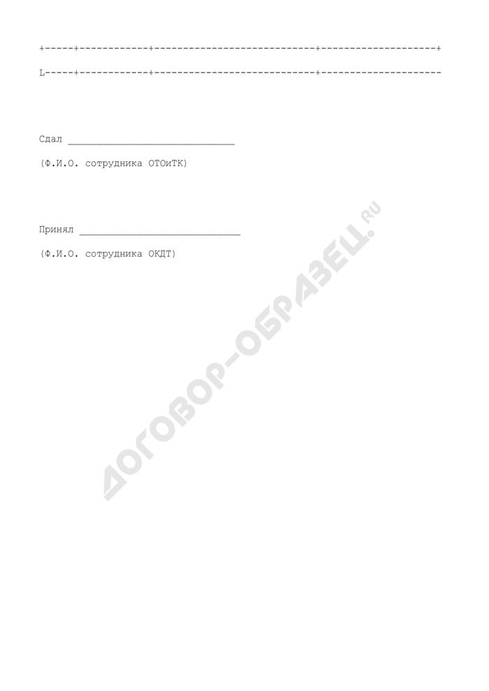 Реестр передачи документов в ОКДТ таможни назначения для осуществления контроля за доставкой товаров. Страница 2