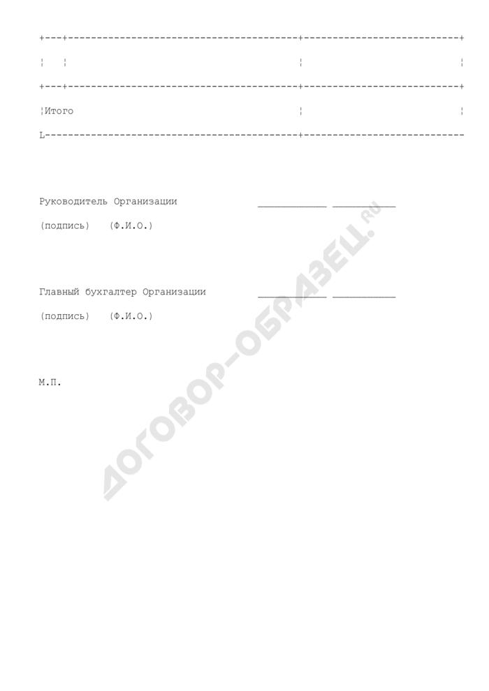 Реестр пополнения средств по корпоративным картам (приложение к договору на обслуживание счета для расчетов по операциям с использованием международных корпоративных карт). Страница 2