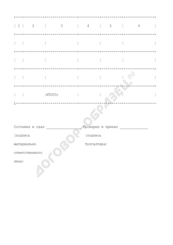 Реестр складских квитанций на поступление товаров/выдачу товаров по складу. Страница 2