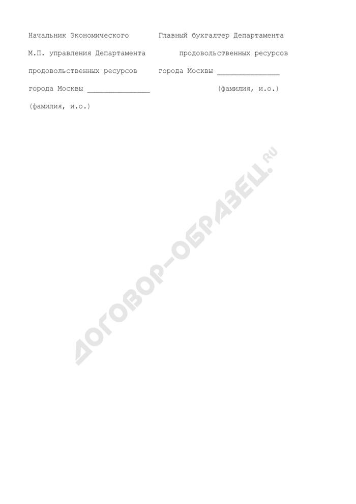 Сводный реестр отчетов об отпуске и реализации продукции, приобретенной по городскому заказу, учреждениям комплекса социальной сферы города Москвы, финансируемым из бюджета административного округа, юридическим лицам, получившим право на организацию питания учащихся в общеобразовательных учреждениях, лечебно-профилактическим учреждениям здравоохранения города Москвы, участвующим в реализации Московской городской программы обязательного медицинского страхования, иным потребителям. Страница 2