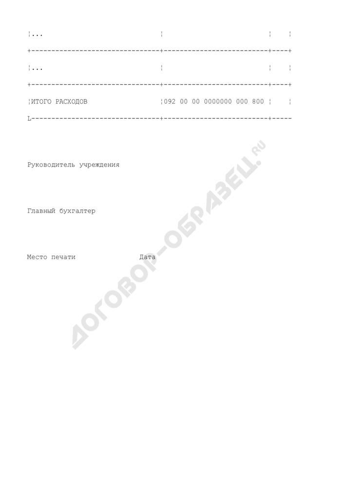 Смета доходов и расходов по средствам, полученным от предпринимательской и иной приносящей доход деятельности на 2007 год. Страница 3