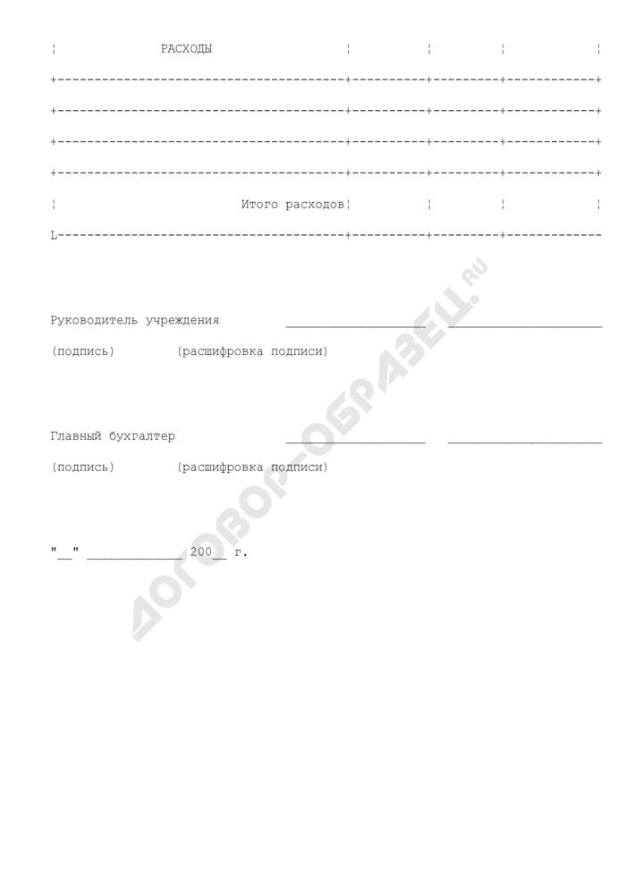 Смета доходов и расходов учреждения, находящегося в ведении Министерства экономического развития Российской Федерации. Страница 3