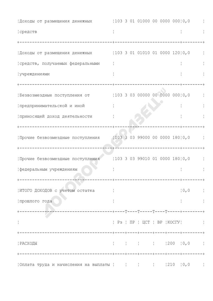 Смета доходов и расходов по приносящей доход деятельности центрального аппарата Министерства транспорта Российской Федерации. Страница 2