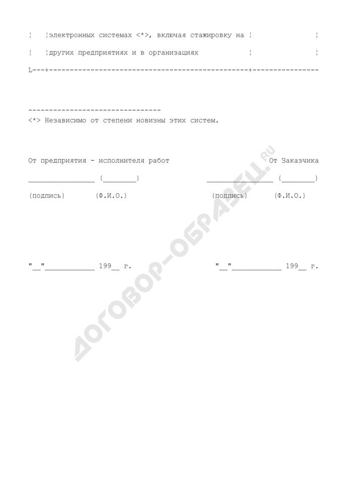Смета затрат на подготовку и освоение производства (типовая форма). Страница 2