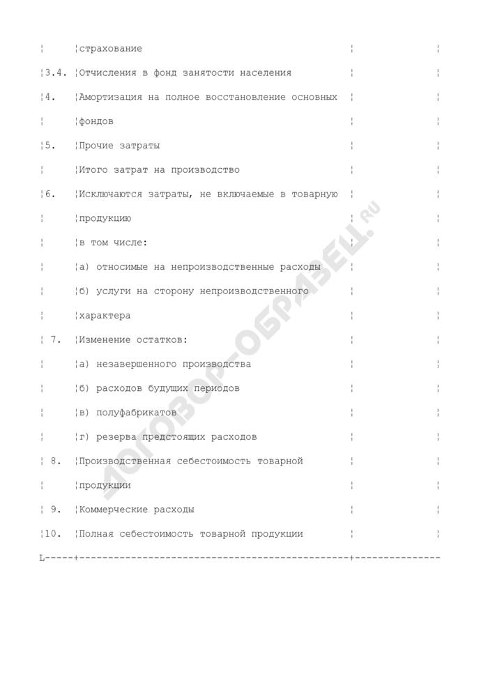 Смета затрат на производство продукции (работ, услуг) цветной металлургии. Страница 2