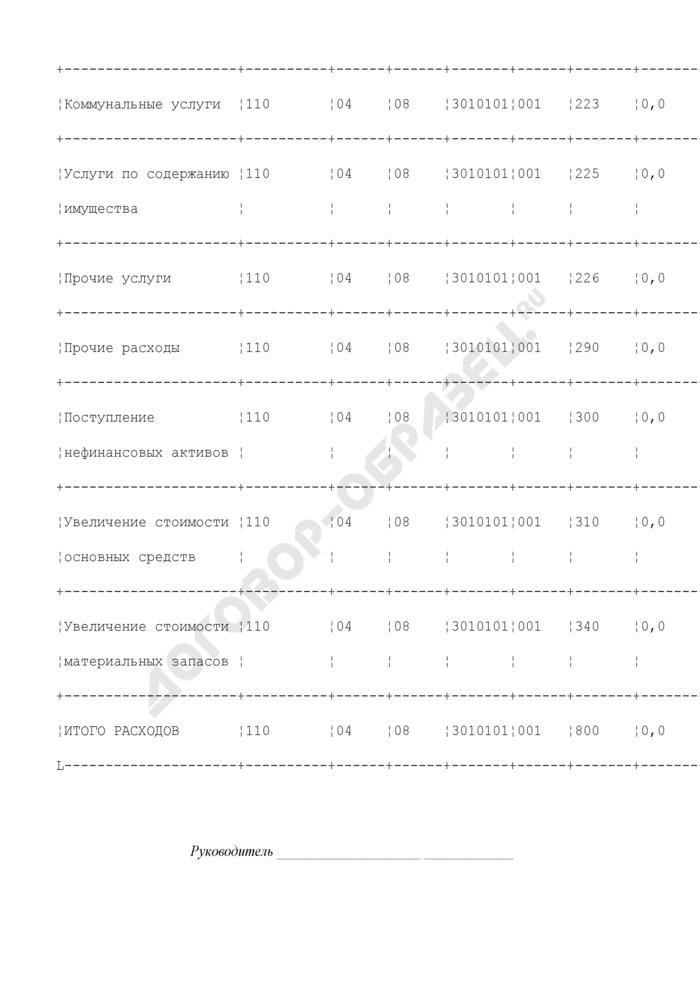 Смета расходов бюджетного учреждения, находящегося в ведении Федерального агентства морского и речного транспорта, за счет ассигнований из федерального бюджета. Страница 3
