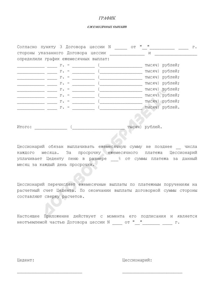 Соглашение о передаче прав и порядке расчетов (приложение к договору цессии). Страница 1