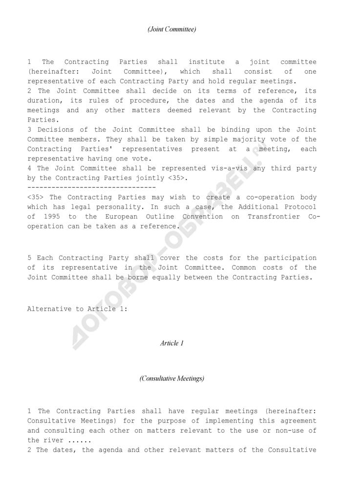 Типовое соглашение о приграничном или межтерриториальном сотрудничестве по использованию земель вдоль пограничных рек (англ.). Страница 2