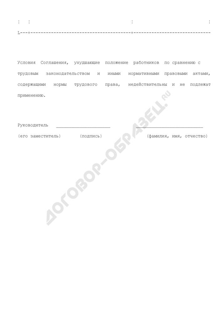 Сообщение о выявленных условиях отраслевого (межотраслевого) Соглашения, заключенного на федеральном уровне социального партнерства, ухудшающих положение работников (образец). Страница 3
