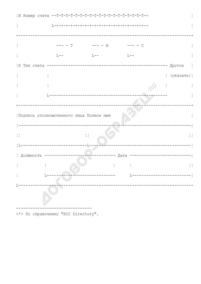 Сообщение о закрытии счета. Форма N 2303ИМ(2000). Страница 3