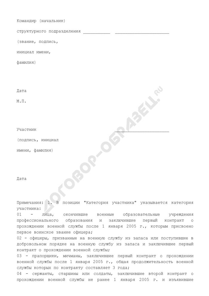 Список для включения военнослужащего МЧС РФ в реестр участников накопительно-ипотечной системы жилищного обеспечения военнослужащих. Страница 3