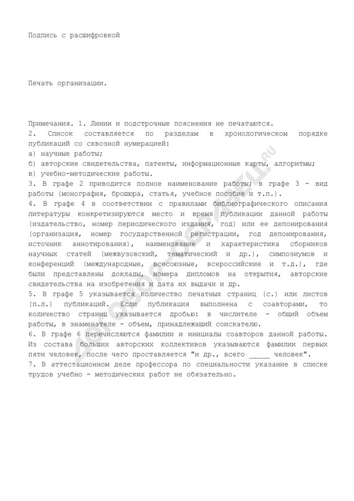 Список опубликованных научных и учебно-методических работ. Страница 2