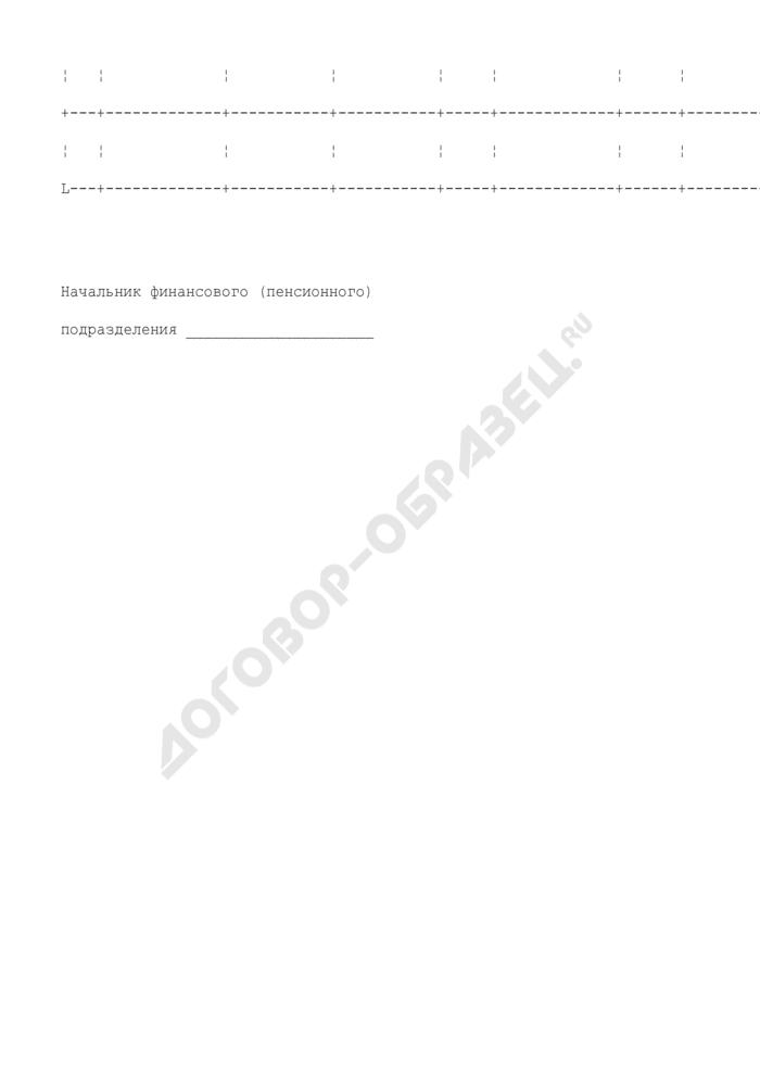 Список пенсионеров Федеральной службы Российской Федерации по контролю за оборотом наркотиков, которым пересчитана пенсия. Страница 2