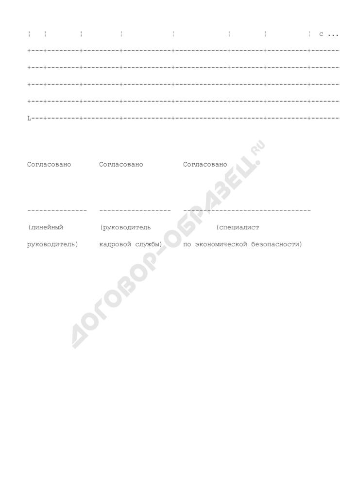 Список резерва (приложение к положению о формировании и работе с резервом руководящих кадров) (примерная форма). Страница 2