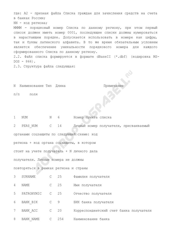 Реестр (список) для зачисления денежных средств на действующие счета, открытые в банках России, граждан, имеющих право на получение денежной компенсации в возмещение вреда, причиненного здоровью граждан в связи с радиационным воздействием вследствие чернобыльской катастрофы либо с выполнением работ по ликвидации последствий катастрофы на Чернобыльской АЭС. Форма N 2. Страница 3