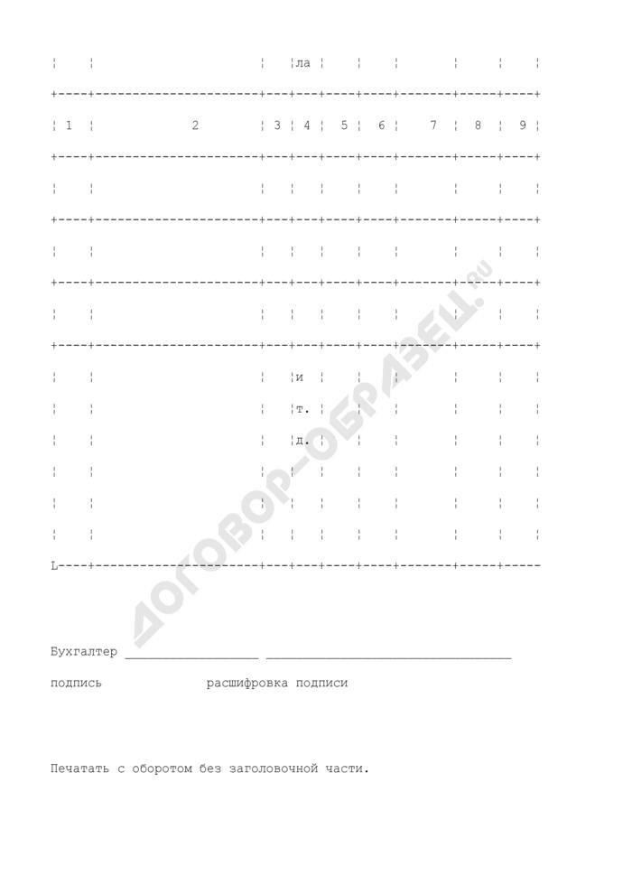 Справка к акту инвентаризации расчетов с покупателями, поставщиками и прочими дебиторами и кредиторами (приложение к форме N ИНВ-17). Страница 2