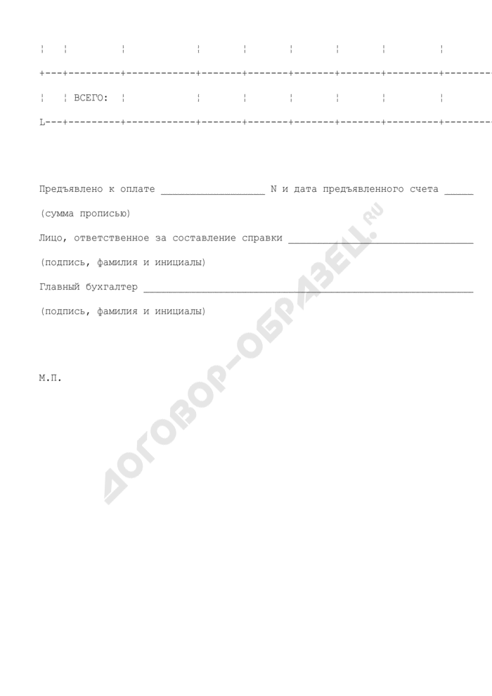 Справка о выданных проездных документах (приложение к типовому договору об оказании содействия лицу, получившему свидетельство о рассмотрении ходатайства о признании беженцем на территории Российской Федерации по существу, и беженцу, а также прибывшим вместе с ними членам семьи в обеспечении проезда и провоза багажа к месту пребывания на территории Российской Федерации). Страница 2