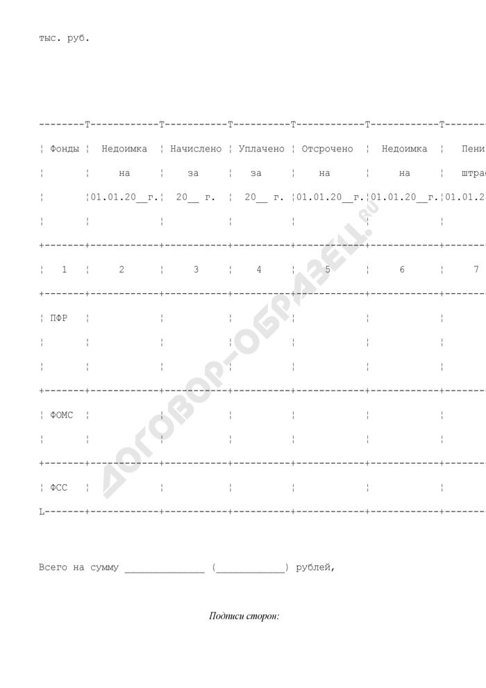 Справка о задолженности во внебюджетные фонды (приложение к передаточному акту по договору о присоединении закрытого акционерного общества к закрытому акционерному обществу). Страница 1