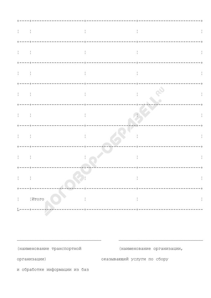 Справка о количестве перевезенных транспортом общего пользования отдельных категорий граждан на территории Московской области. Страница 2