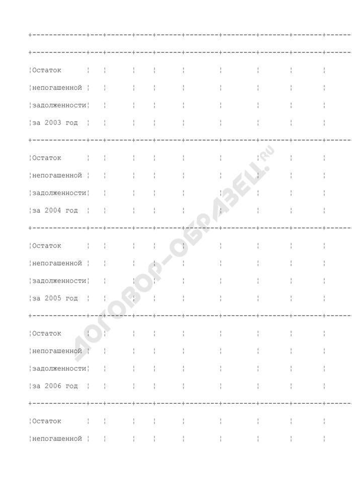 Справка о межбюджетной задолженности по поступлениям в бюджетную систему Российской Федерации. Страница 3