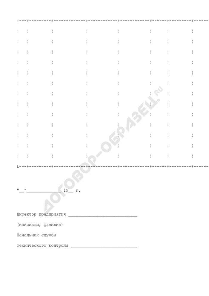 Справка о предъявляемых претензиях к сырью, материалам и комплектующим изделиям к акту проверки соблюдения требований стандартов и технических условий на предприятии. Страница 2