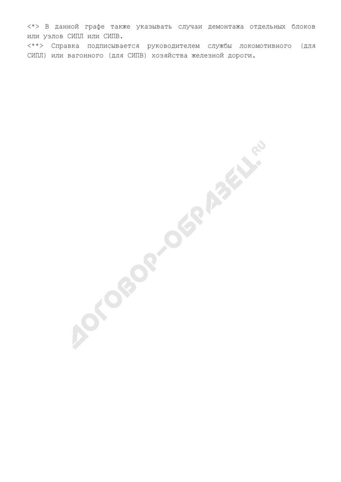 Справка по укомплектованию локомотивных и вагонных депо стендами контроля комплектов системы СУТП (СИПЛ, СИПВ). Страница 2