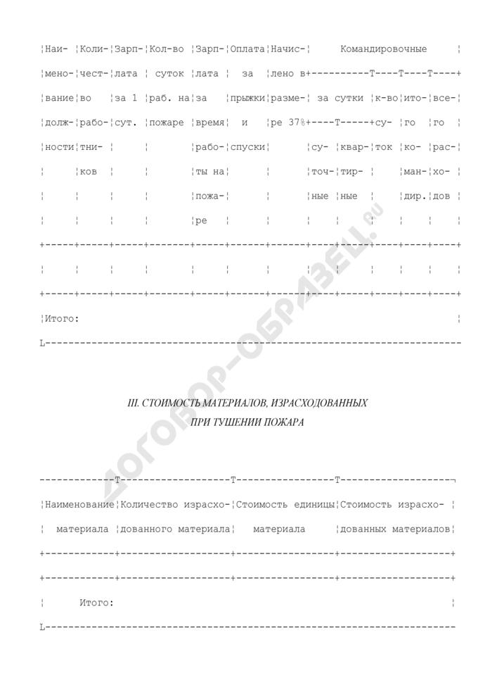Справка расходов авиаотделения авиабазы по обнаружению и тушению лесного пожара. Форма N 9. Страница 2