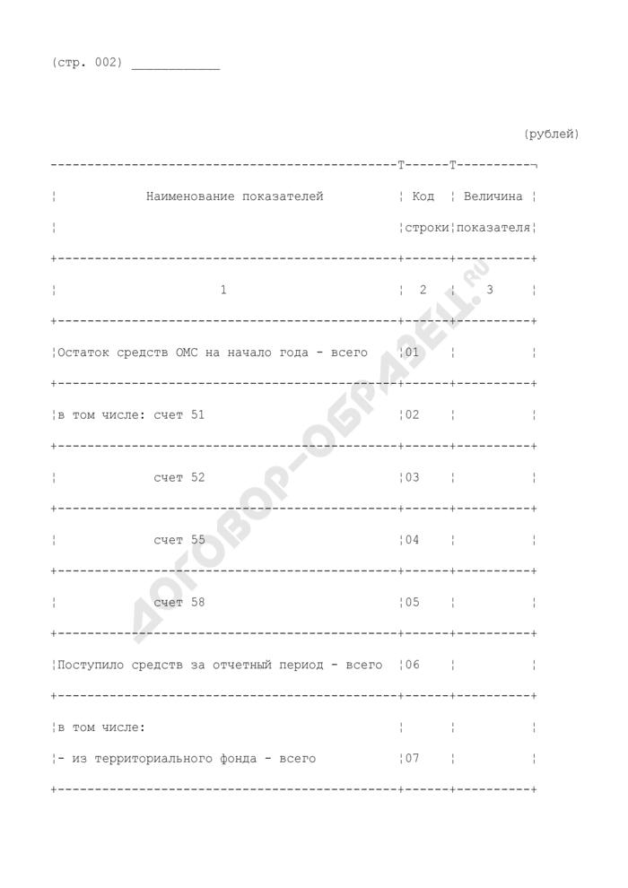 Сведения о поступлении и расходовании денежных средств обязательного медицинского страхования страховыми медицинскими организациями. Форма N 10 (сводная). Страница 2