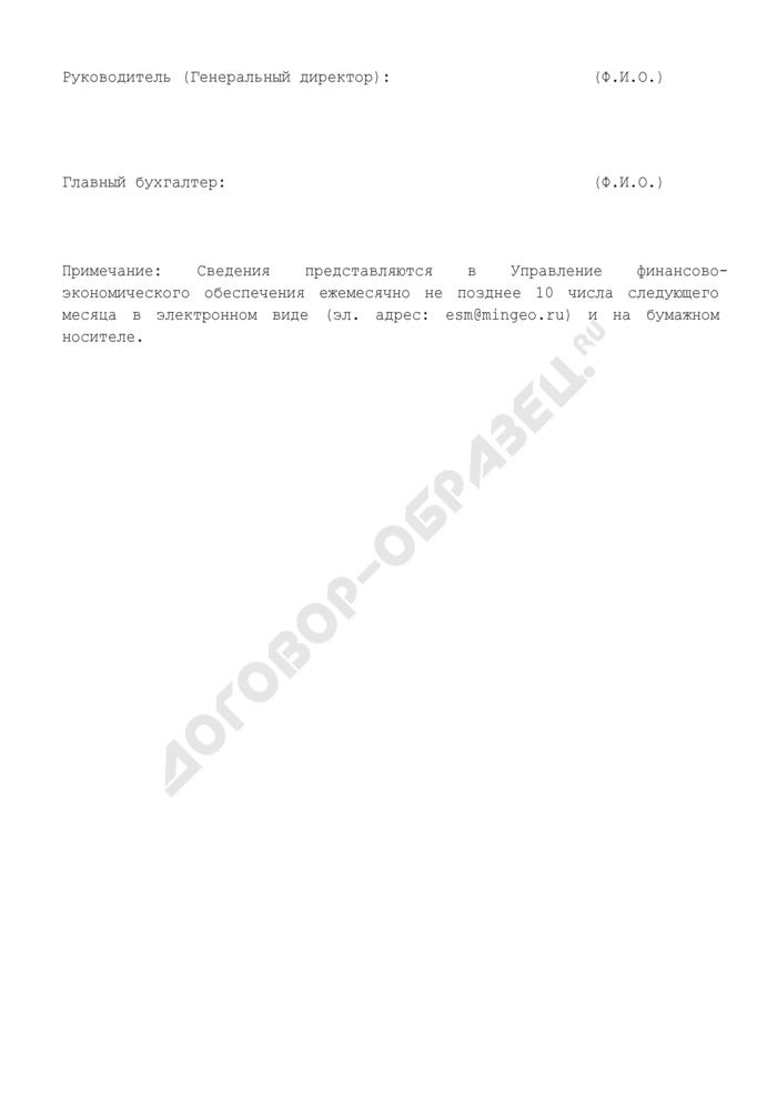 Сведения о поступлении платы за геологическую информацию. Страница 2
