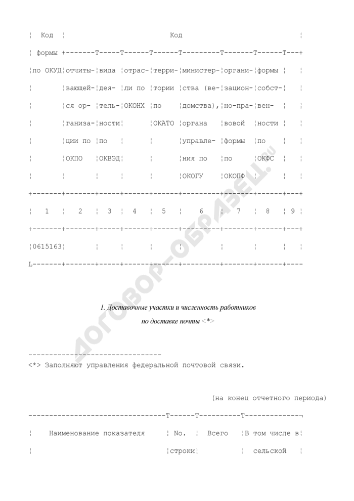 Сведения о почтовой связи. Форма N 21-связь. Страница 3