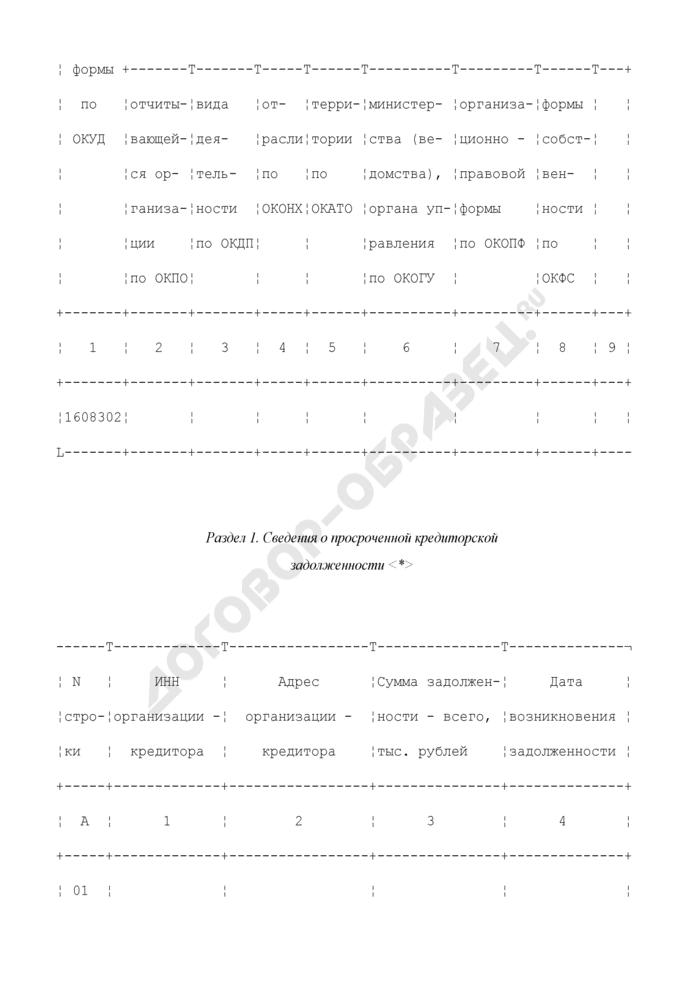 Сведения о просроченной кредиторской и дебиторской задолженности организаций. Форма N 1-СКД (срочная). Страница 3