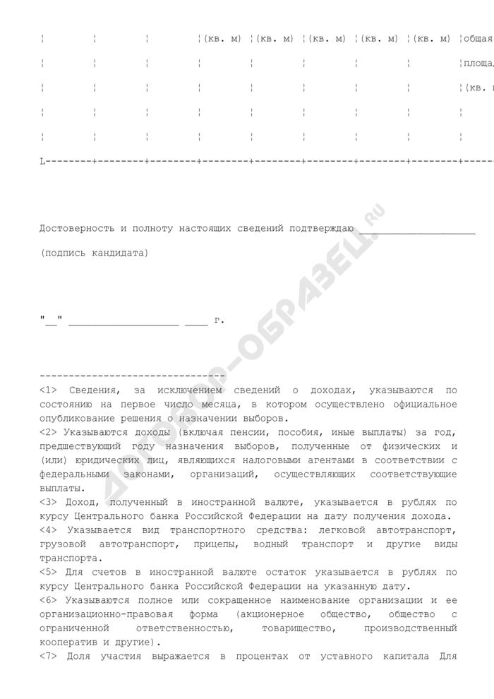 Сведения о размере и об источниках доходов, имуществе, принадлежащем кандидату забайкальского края на праве собственности, о вкладах в банках, ценных бумагах. Страница 2