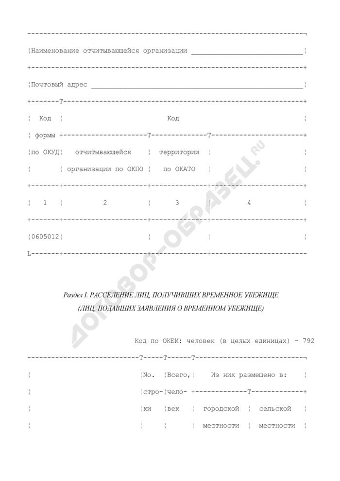 Сведения о социально-демографическом составе лиц, подавших заявления и получивших временное убежище (приложение к форме N ВР). Страница 3