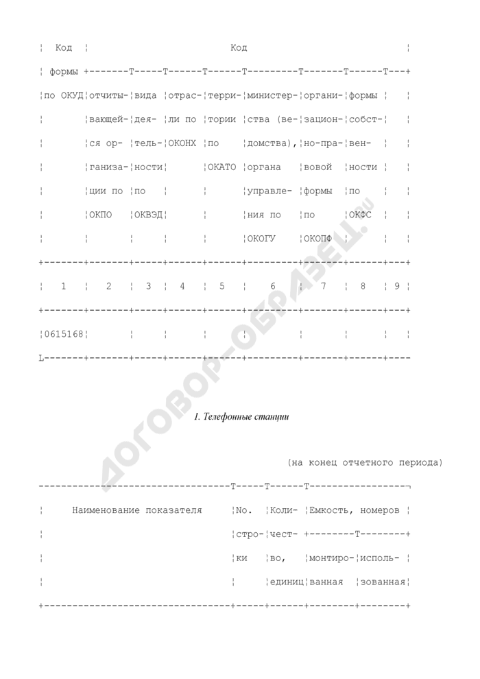 Сведения о технических средствах сельской телефонной связи (СТС). Форма N 43-связь. Страница 3
