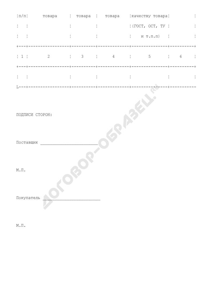 Сведения о товаре (приложение к договору поставки товара). Страница 2