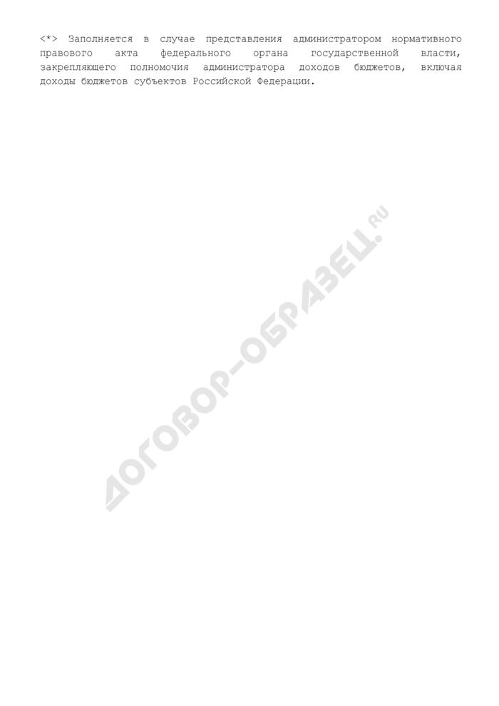 Сведения о федеральных органах государственной власти - администраторах доходов бюджетов субъектов Российской Федерации в территориальных органах Федерального казначейства. Страница 2