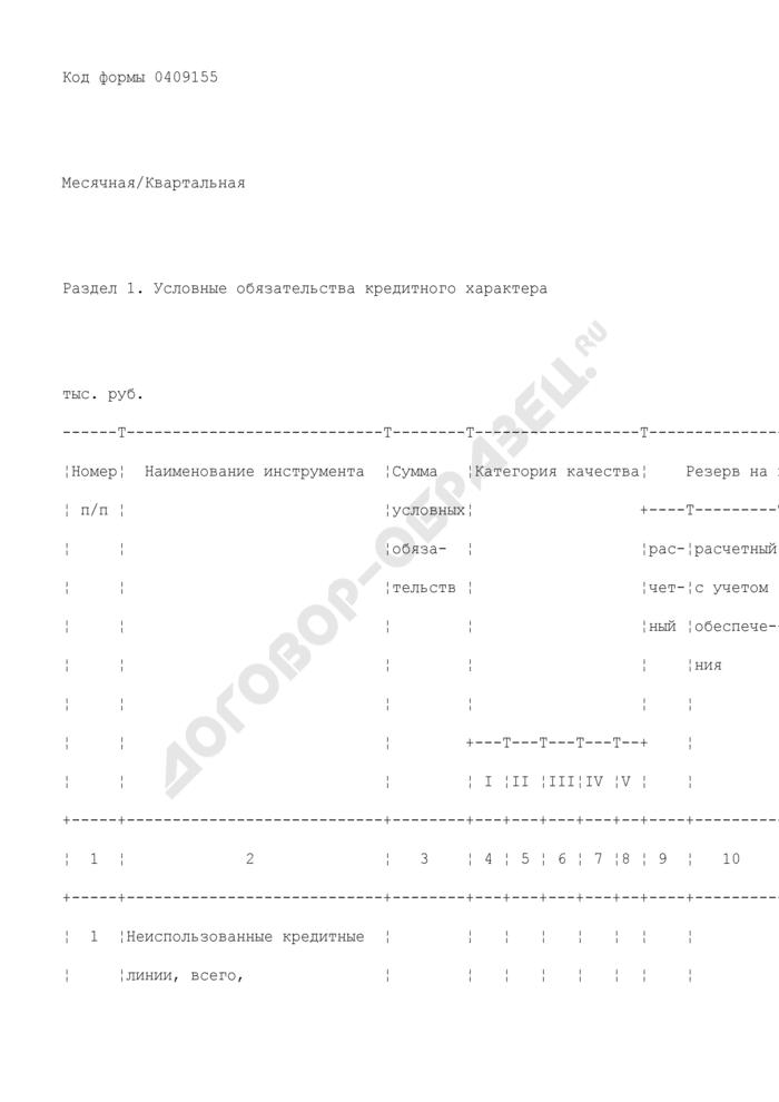 Сведения о финансовых инструментах, отражаемых на внебалансовых счетах кредитной организации. Страница 2