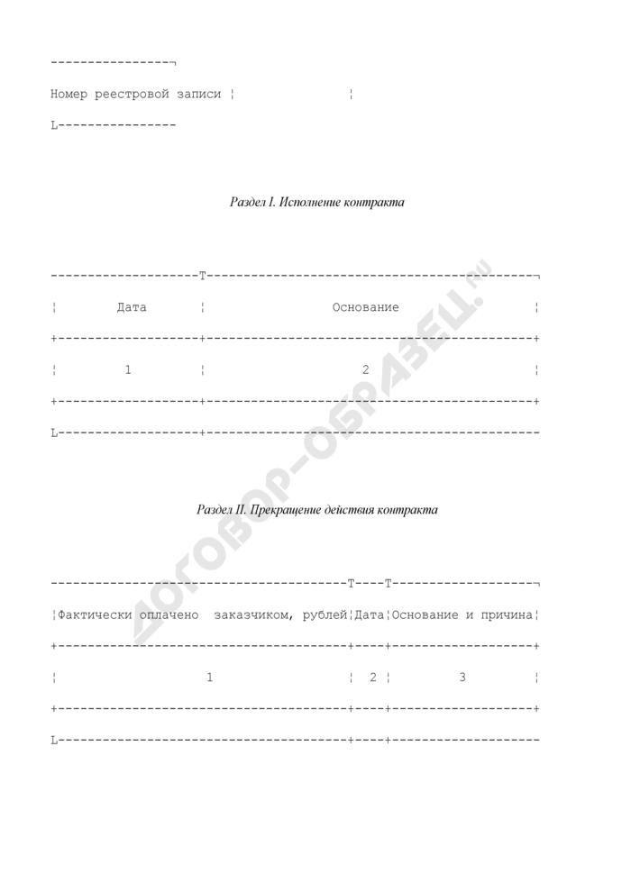 Сведения об исполнении (о прекращении действия) государственного контракта. Форма N 2. Страница 2