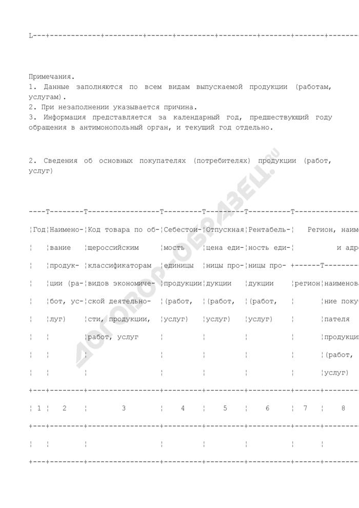 Сведения, представляемые при подаче хозяйствующим субъектом заявления о включении в реестр, об исключении хозяйствующего субъекта (групп лиц) из реестра и об изменении информации о хозяйствующем субъекте, включенном в реестр. Страница 2