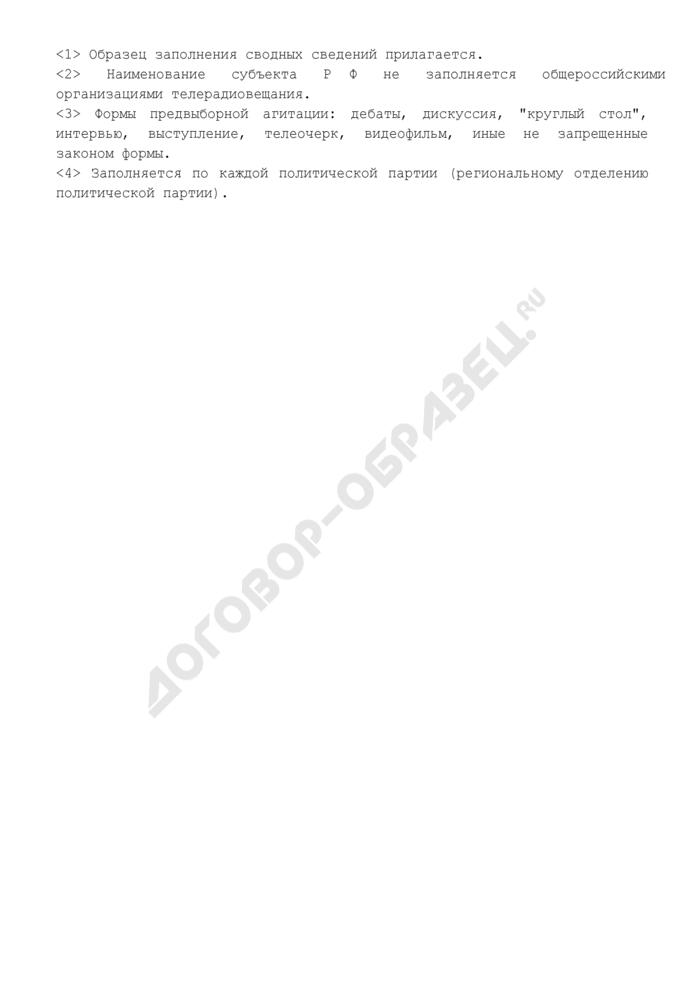 Сводные сведения об объемах и стоимости платного эфирного времени, предоставленного политическим партиям, зарегистрировавшим федеральные списки кандидатов, в период избирательной кампании. Страница 3