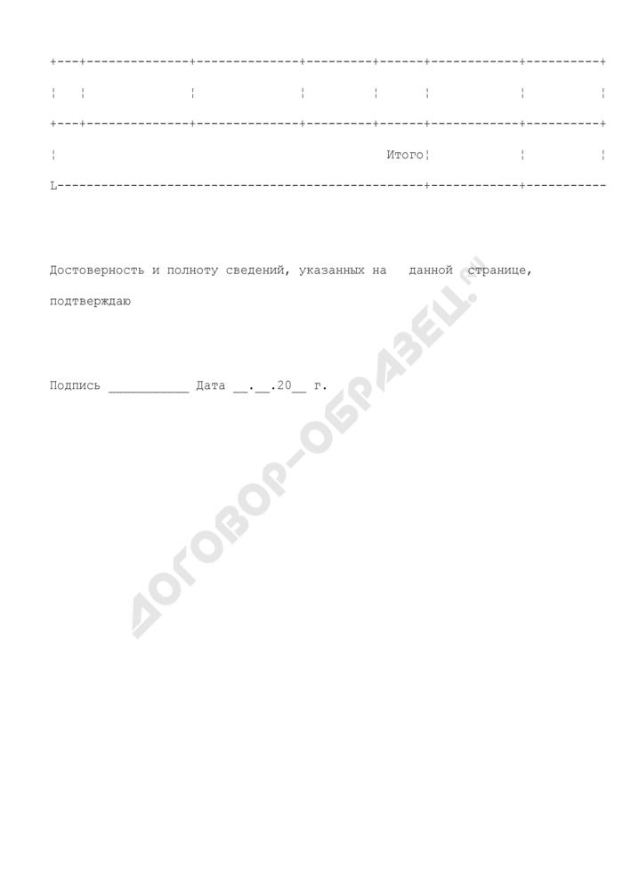 Сводный финансовый отчет политической партии. Сведения о государственной регистрации транспортных средств, принадлежащих политической партии по состоянию на конец отчетного года (приложение N 2 к разделу II). Страница 2