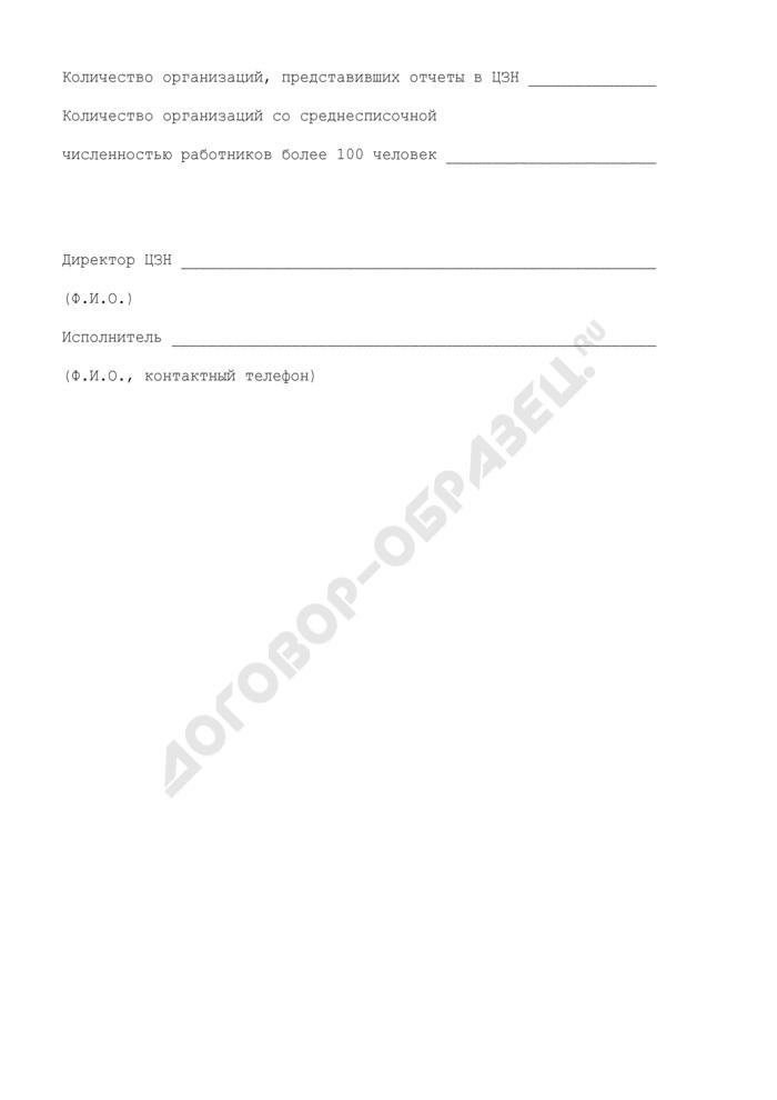 Сведения государственного учреждения Московской области центра занятости населения о выполнении работодателями установленной квоты по приему на работу инвалидов. Форма N 4. Страница 3