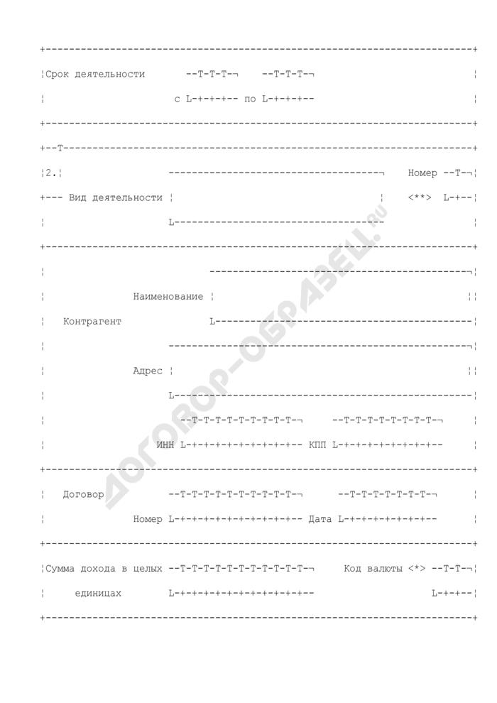 Деятельность иностранной организации, не связанная с постоянным представительством (приложение к разделу 2 формы N 2503И(2000)). Страница 2